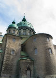 Catholic church domes and walls Royalty Free Stock Image