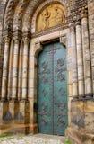 Catholic Church Door. Door to Cyril and Methodius church in Prague, Czech Republic Royalty Free Stock Photos
