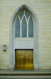 Cathedral Catholic Church Doors in Dubuque, Iowa Stock Images