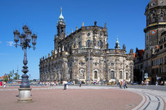 Catholic Church in Dresden, Germany Stock Image
