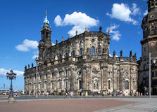 Catholic Church in Dresden, Germany Stock Photo