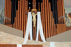 Catholic Church at Easter. Image of a Catholic Church at Easster Royalty Free Stock Photography
