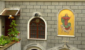 Catholic church facade Istanbul Royalty Free Stock Images
