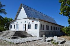 Catholic church on Fanning Island royalty free stock photos