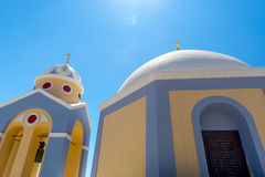 Catholic Church in Fira in Santorini, Greece Royalty Free Stock Photography
