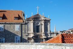 Catholic church. In the fortress of Dubrovnik, Croatia Royalty Free Stock Photography