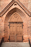Catholic church front entrance Royalty Free Stock Photos