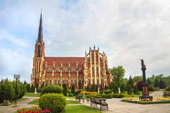 Catholic Church in Gervyaty, Grodno region, Belarus. Stock Images
