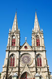 A Catholic church in gothic architecture style Stock Image