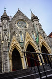 Catholic church gothic facade wide angle Royalty Free Stock Photography