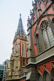 Catholic church in the Gothic style architecture Stock Photo