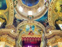 Catholic Church Gozo. The inside of a typical catholic church! Gozo is surrounded by several churches, 46 in total and every little village has its own church Royalty Free Stock Photo