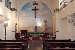 Catholic church hall Royalty Free Stock Photography