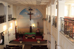 Catholic church hall Royalty Free Stock Image