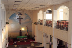 A catholic church hall Stock Images