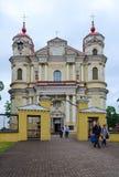 Catholic church of Holy Apostles Peter and Paul, Vilnius, Lithua Stock Photo