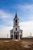 Catholic church of Holy Trinity, Germanishki. Catholic church of the Holy Trinity, Germanishki, Voronovskii district, Grodno region, Belarus Royalty Free Stock Photo