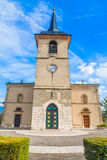 Catholic Church with horologe Stock Photo