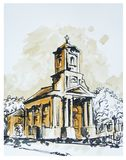 Catholic Church. Illustration of chatolic church in Padej in Serbia Stock Photography