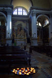 Catholic church inside,Venice,Italy Royalty Free Stock Photo