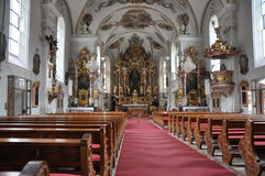 Catholic church interior Stock Photo