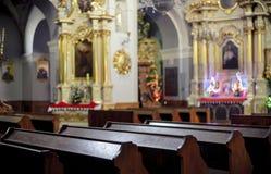 Catholic Church. Interior, altar in background Stock Image