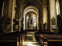 Catholic church interior Royalty Free Stock Photo