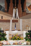 Catholic church interior at Easter. Image of the interior of a catholic church at Easter Stock Image