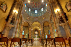 Catholic church interior view. Alba, Italy. Stock Photo