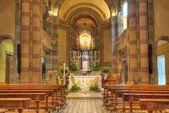 Catholic church interior view. Alba, Italy. Royalty Free Stock Image