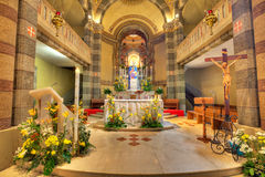 Catholic church interior view. Alba, Italy. Royalty Free Stock Photography