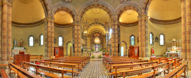 Catholic church interior view. Alba, Italy. Stock Photography