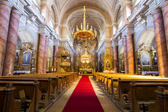 Catholic church interior view Royalty Free Stock Images