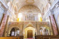 Catholic church interior view in Sibiu Stock Image