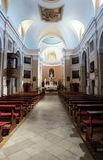 Catholic church interior view Stock Images