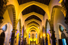 The Catholic church interior Royalty Free Stock Photo