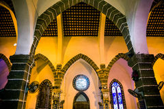 The Catholic church  interior Stock Photography