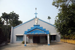 Catholic Church in Kumrokhali, West Bengal, India Stock Photo