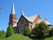The Catholic Church. In the Latvian village Royalty Free Stock Image