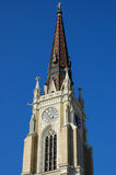 The Catholic Church. Look at the baptism of the Catholic Church from down in Novi Sad, Serbia Stock Images