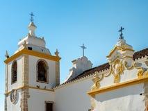 Catholic church Matriz de Alvor, Portugal stock images