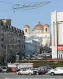 Catholic church in the metropolis Stock Image