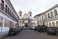 Catholic Church in Minas Gerais, Brazil royalty free stock image