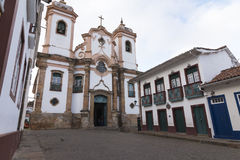 Catholic Church in Minas Gerais, Brazil stock images