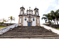 Catholic Church in Minas Gerais, Brazil. Church of Our Lady of Carmo in Ouro Preto, Minas Gerais, Brazil stock image