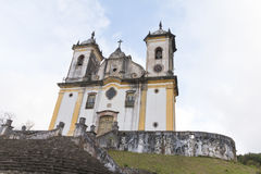 Catholic Church in Minas Gerais, Brazil stock photo