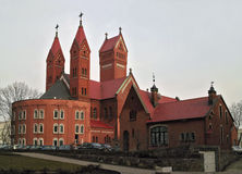 Catholic church in Minsk, Belarus. Royalty Free Stock Photos