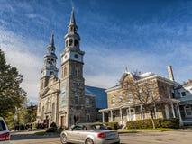 Catholic Church of Montreal. Parish: De La Visitation church, Catholic Church of Montreal Stock Photos
