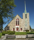 Catholic Church of Montreal. Parish:Saint Paul de la Croix, Catholic Church of Montreal Stock Photo