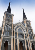 Catholic Church. The most beautiful Catholic church of Southeast Asia in Chuntaburi Royalty Free Stock Photos